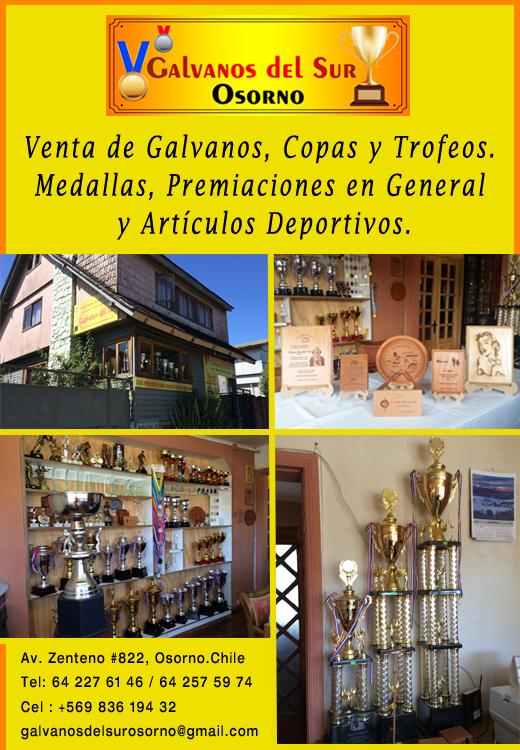Osorno galvanos trofeos y copas galvanos del sur for Viveros en osorno